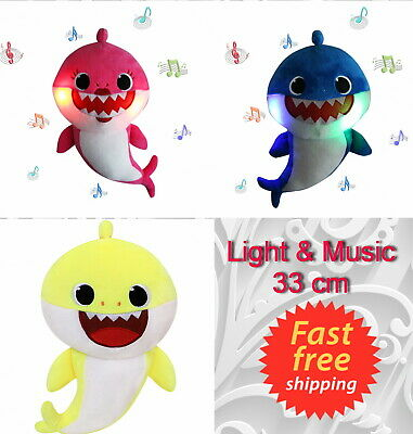 Baby shark plush singing plush toys music doll English song gift for child