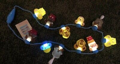 Disney Parks Food Glow Light Up Necklace Mickey Waffle Bar Donut Ice Cream NWT