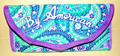 "Portaocchiali Rigido ""by American"" Made In Italy By Artena Spa Vintage Anni '80"