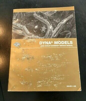 2008 Harley-Davidson Dyna Model Service Repair Owner OEM FACTORY Manual 99481-08