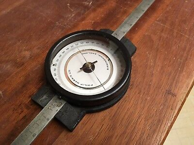 Vintage Philip Harris & Co Deflection Magnetometer, Compass, With Linear Scale