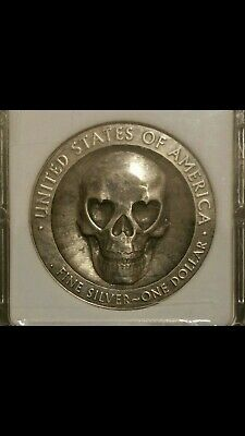 1 of 1 #8 Very Rare Hobo Nickel .999 Fine Silver Dollar Silver Eagle Coin