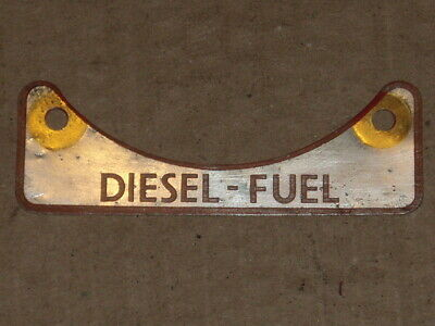 "Landrover  ""diesel Fuel"" Plate For Series 2 & 3"