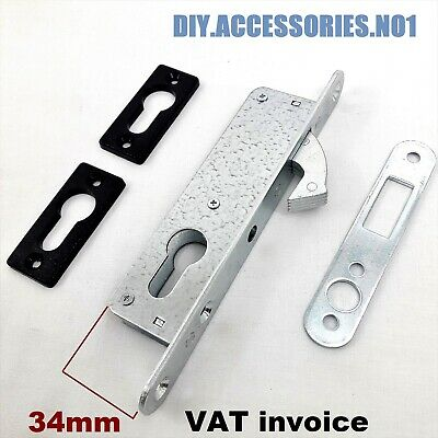 34 mm HOOK LOCK NARROW   FOR HINGED AND SLIDING DOOR GATE  EURO CYLINDER MORTICE