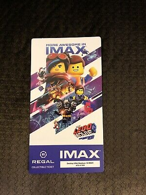 The Lego Movie 2 The Second Part Collectible Regal IMAX Ticket