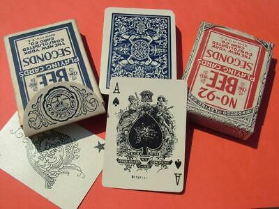 2 x PACKS OF ANTIQUE PLAYING CARDS NO. 92 BEE NEW YORK PLAYING CARD COMPANY