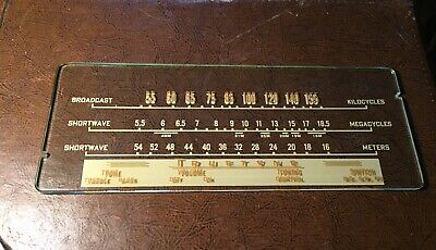 Vintage Truetone Radio Glass Dial Faceplate Part