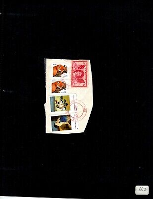 Used Scott#3036, $$1, Stamp Red Fox 2 Stamps  Stuck In The Paper