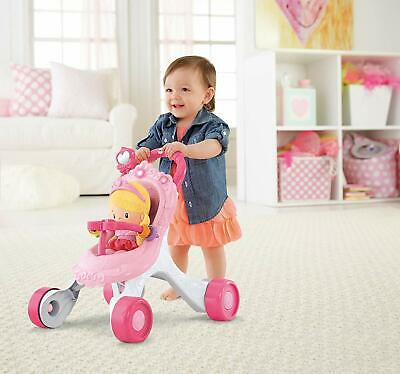 Fisher Price Princess Walker Pushchair Pink With Princess Doll