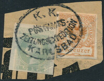 Austria, Scarce Lot Of 2 Classic Newspaper Stamps On Fragment. #l761