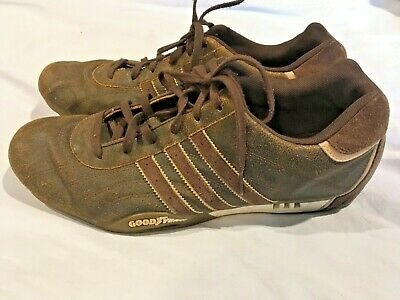 check out dff98 2e20a Team Adidas Adi Racer Shoes Mens Goodyear Driving 2006 Brown Suede Sz 11