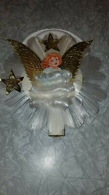 Angel Hair Christmas Tree Decoration.Angel Hair Vintage Christmas Tree Decorations Wynne Novelty