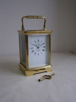 Vintage L'epee Fench Brass Carriage Clock