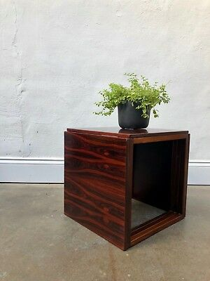 Vintage DANISH ROSEWOOD KAI KRISTIANSEN CUBE NEST OF TABLES. Vodder DELIVERY