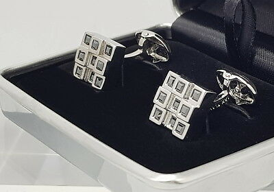 Men's or Women's Austrian cut crystal cufflinks,Cool Designer Hematite cufflinks