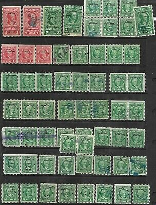 US 61, #RD73 –1940 10c 25¢, 50¢ Stock Transfer Stamp bright green Singles, pairs