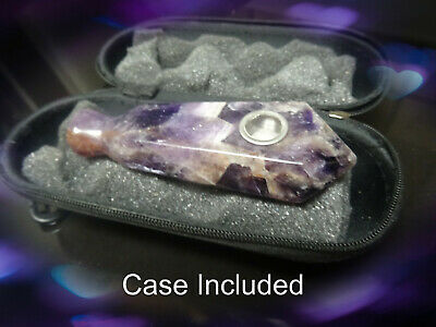 """Dream Amethyst  """"American Style"""" -Natural-Stone-Pipe--Chakra-Crystal - no glass"""