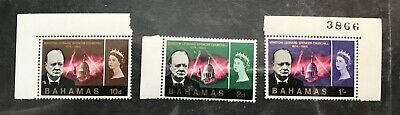 Bahamas postage stamps lot of 3 Winston Churchill 1965 MNH