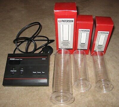Paterson 2000D Precision Enlarger Timer - with 3 developing jugs