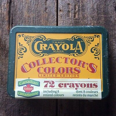 1991 Crayola Collector's Color Limited NOS Factory sealed Canadian Edition Tin