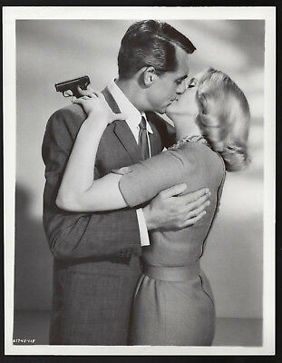 Original stamped 1959 NORTH BY NORTHWEST Cary Grant &  Eva Marie Saint HITCHCOCK