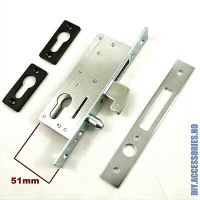 51 mm HOOK LOCK FOR SLIDING DOOR  GATE  EURO CYLINDER CASE MORTICE SASH LOCK