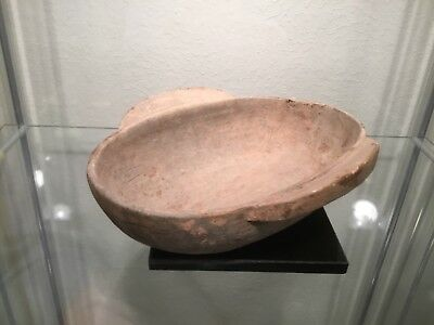 A larger ancient Chinese libation cup or ear cup, likely Han period, 206BC-220AD