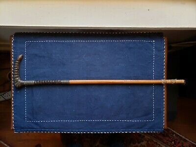 Antique Riding Crop Rare Horn Handle Acquired in Africa
