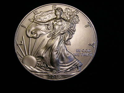 2019 GEM BU ASE American Silver Eagle! Brilliant! Combined Shipping!
