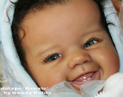 """New Germany Reborn Baby Doll Kit ~KENZIE~ By Sandy Faber @ 26""""@ Vinyl Parts Only"""