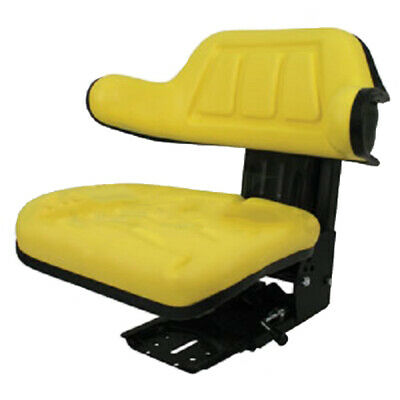 Yellow Wrap Back Tractor Suspension Seat John Deere 1020, 1530, 2020, 2030 #We