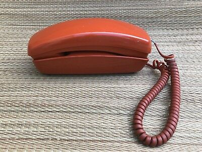 Trimline Touch Tone Phone Vintage TESTED Rust Burnt Orange Western Bell