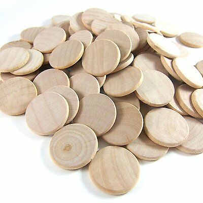 100 Wooden Circles 1.5 Inch