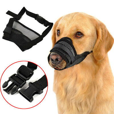 Anti Bark Bite Mesh Mouth Muzzle Grooming Adjustable Stop Chewing Pet Dog Mask
