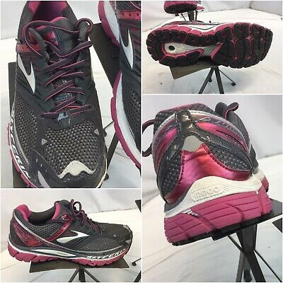 1b7cb87d921 BROOKS GLYCERIN 10 Sz 11.5 Women Black Pink Running Shoes Worn 3 Time YGI  B9S-30