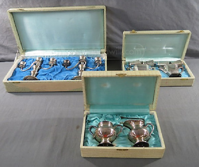 Antique 12 Piece lot Of Sterling Silver Stamped 950 Includes 1373 Grams Total