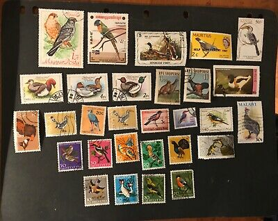 Birds postage stamps 29 all different               Fe