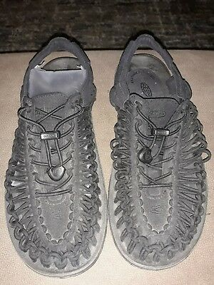 39c5f8c1140a Keen Uneek paracord Sandal Men s Size 9.5 Black Water shoe hiking walking  shoe