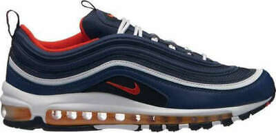 e6901dc3c7f4 Nike Air Max 97 Midnight Navy Blue Habanero Red USA Men Running Shoes  921826-403