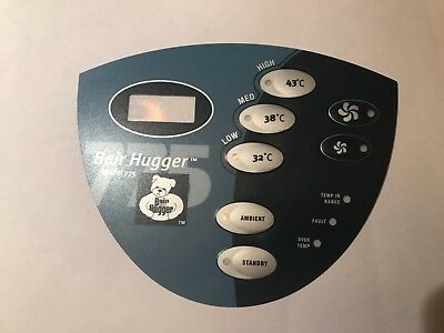 Arizant Bair Hugger Model 775 User Interface 771001 Overlay NEW 1 yr Warr