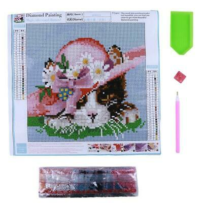 Cat Flower 5D DIY Diamond Painting Abstract Cross Stitch Embroidery HD