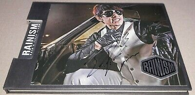 RAIN RAINISM 5th ALBUM K-POP REAL SIGNED AUTOGRAPHED CD