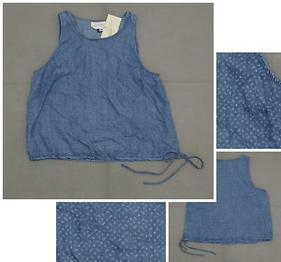 710bb6e98eefd NWT Universal Thread Women s Drawstring Chambray Denim Tank Top Shirt Blouse