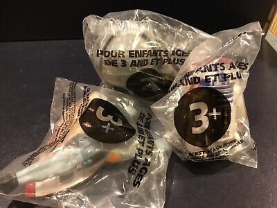 Lot Of 3 Vintage 1996 STAR WARS Taco Bell~R2D2, Death Star, And Boba Fett. NEW