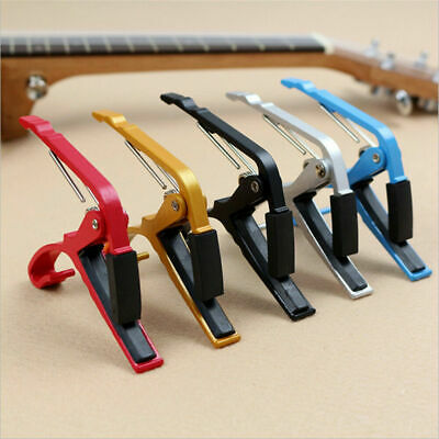 For Classic Electric Guitar Acoustic Aluminum Alloy Quick Change Clamp Key Capo