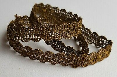 "Vintage Gold Metallic Trim Darker Patina 17 1/2"" French"