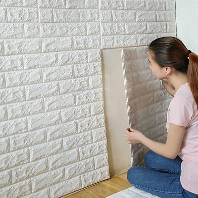 3D Brick PE Foam Wall Stickers Self Adhesive Poster DIY Wall Papers Home Decor