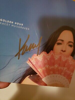 New Kacey Musgraves Hand Signed CD Booklet Cover Golden Hour Album Autographed