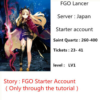 [JP] SSR Lancer FGO Starter Account 260-400 sq 23-41 ticket Fate Grand Order LV1