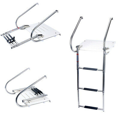 Amarine-made Boat Inboard Swim Fiberglass Platform with 3 step Stainless Ladder